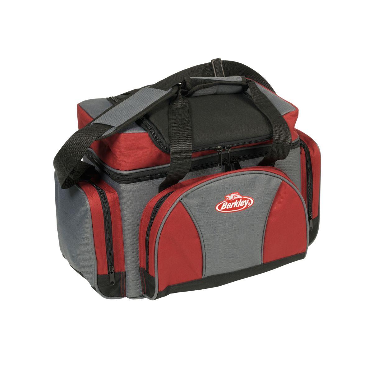 BERKLEY Přívlačová taška s krabičkami Berkley System Bag Grey Red XL