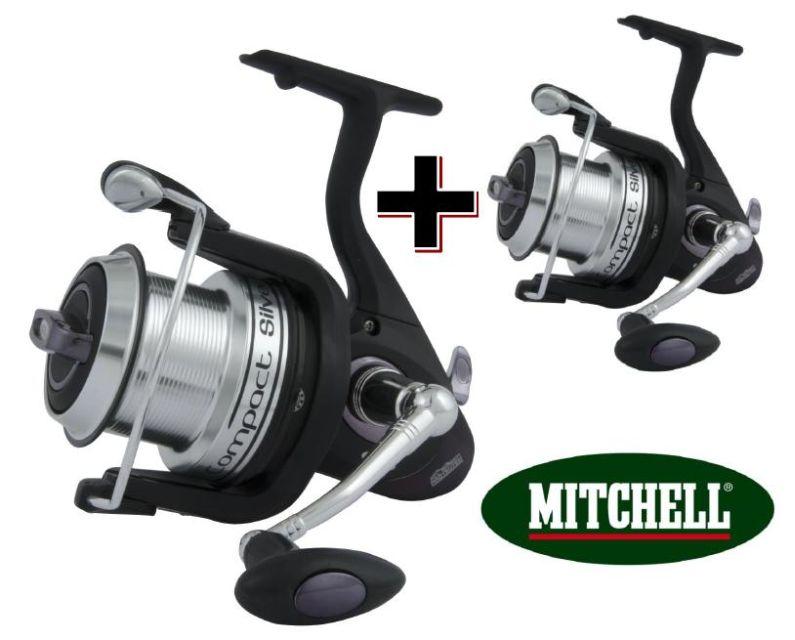 MITCHELL Naviják s přední brzdou Mitchell Compact LC Silver 700 1+1 ZDARMA