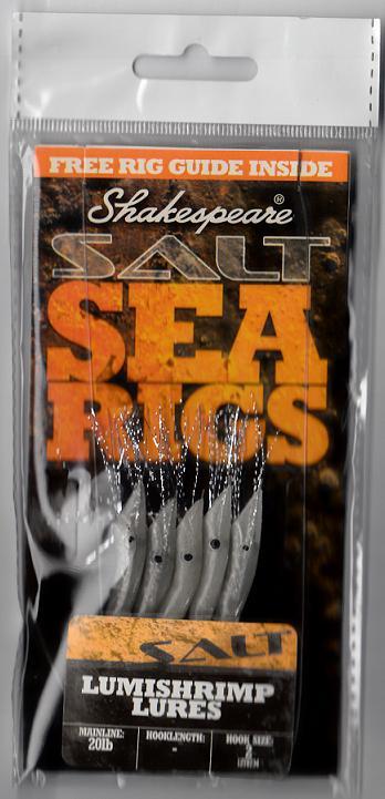 SHAKESPEARE Morský nádväzec LUMI SHRIMP LURES - 9.10kg (5ks)