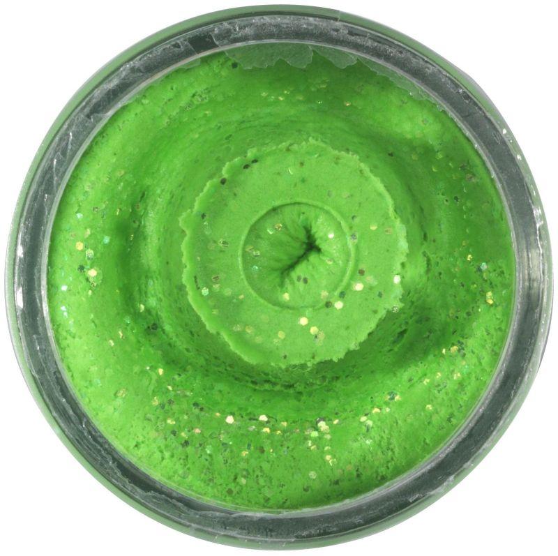 POWERBAIT NATURAL GLITTER TROUT BAIT GARLIC 50G SPRING GREEN