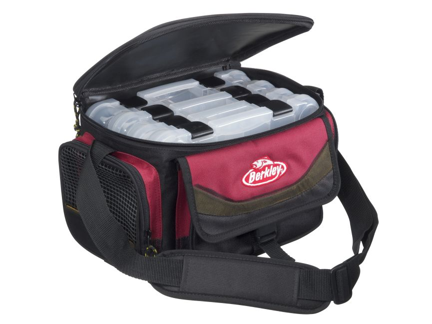 BERKLEY Přívlačová taška Berkley SYSTEM BAG 2015 RED-BLACK M