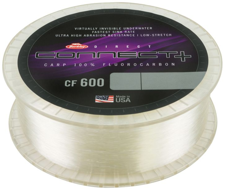 BERKLEY Kaprový Fluorocarbon CONNECT+ CF600 CLEAR 1200m - 0.45mm/15.3kg