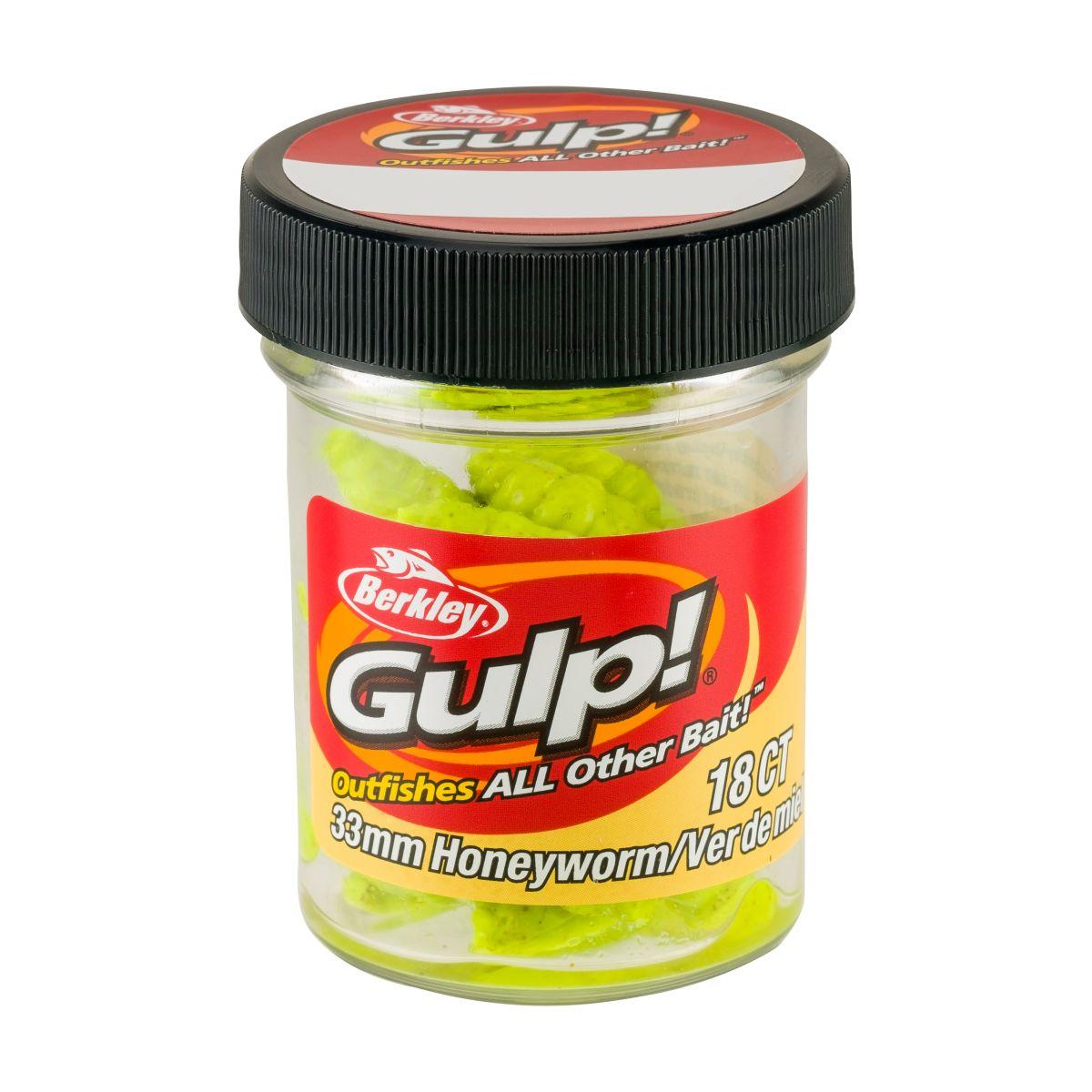 BERKLEY GULP! Honey Worm - 3.3cm (Chartreuse)