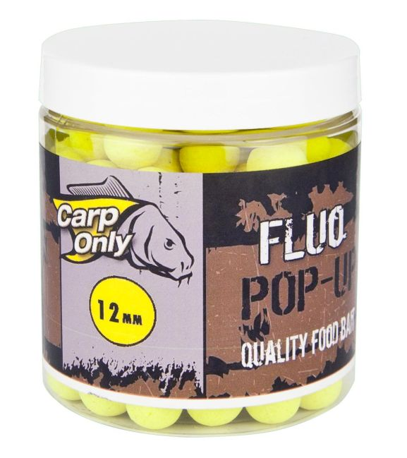 CARP ONLY FLUO POP UP BOILIE YELLOW 12MM 80G