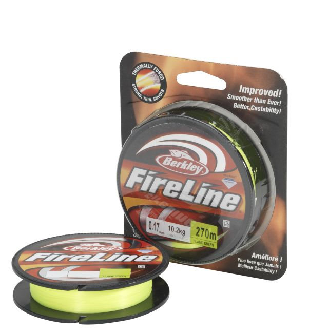BERKLEY FIRELINE FUSED ORIGINAL FLAME GREEN 110M 0,17MM 10,2KG