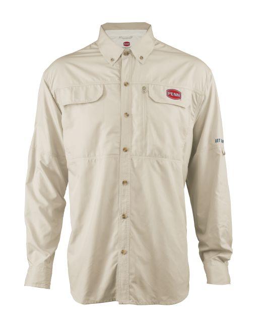 PENN TECHNICAL VENTED SHIRT TAN M (košile s dlouhým rukávem)