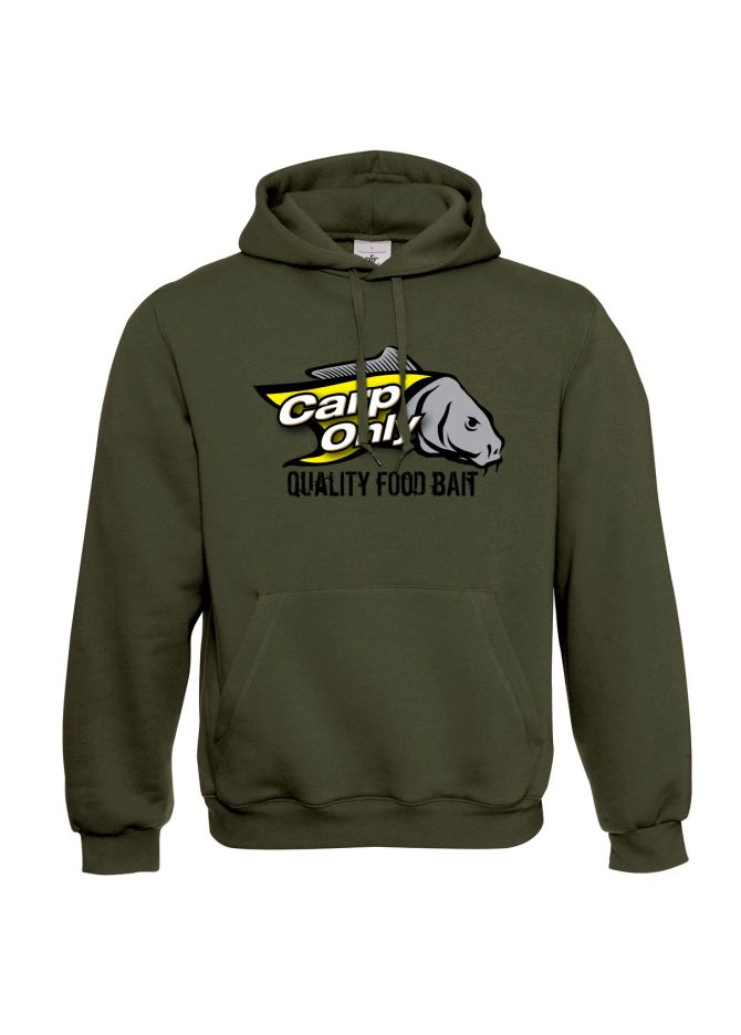 CARP ONLY MIKINA CARP ONLY HOODED KHAKI 2XL